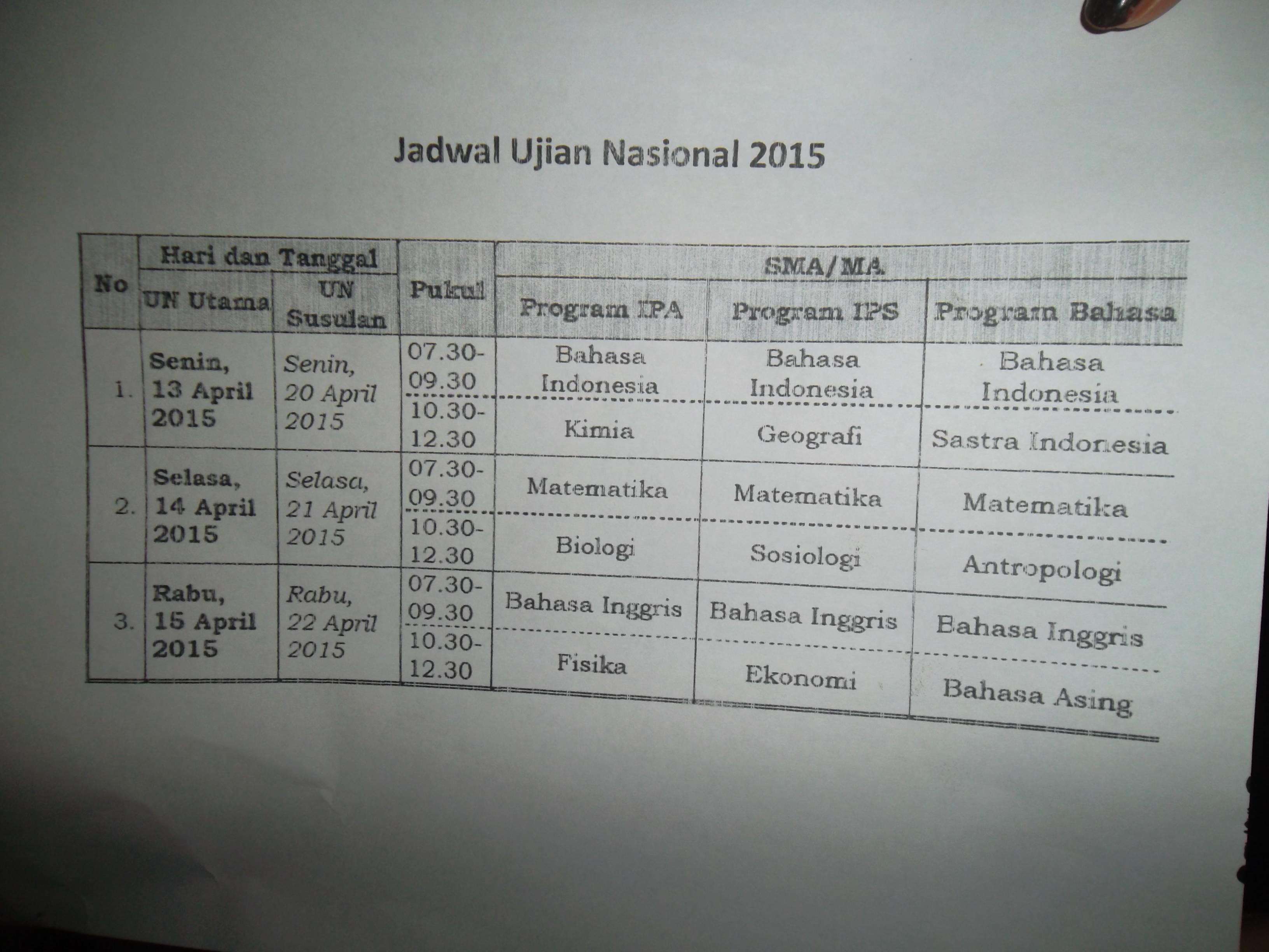Ujian Nasional Sma Smk Hari Pertama Di Manado Lancar Suara Manado